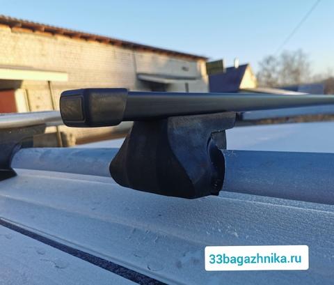 Багажник Интер Фаворит на рейлинги  с прямоугольной дугой 120 см.