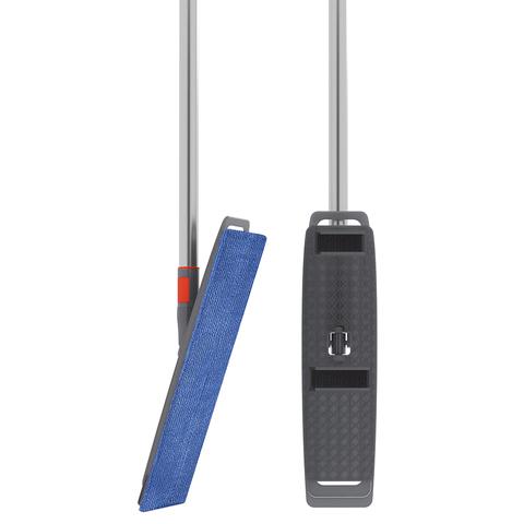 Набор из телескопической ручки 160 см, подвижного основания для швабры и сменной насадки из микрофибры