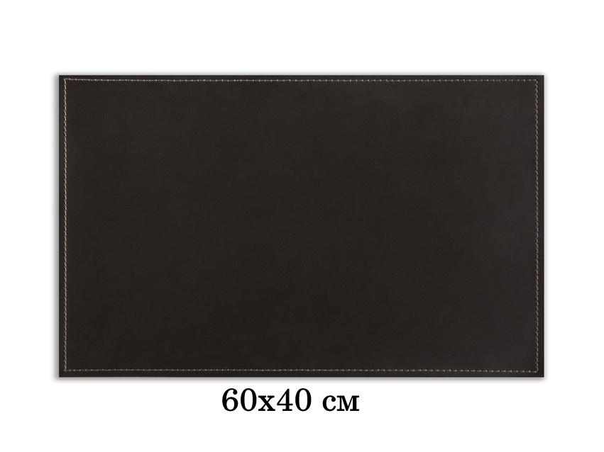 Бювар прямоугольный серия Бизнес-Классика 60х40 см кожа Cuoietto. На фото цвет темно-коричневый шоколад.