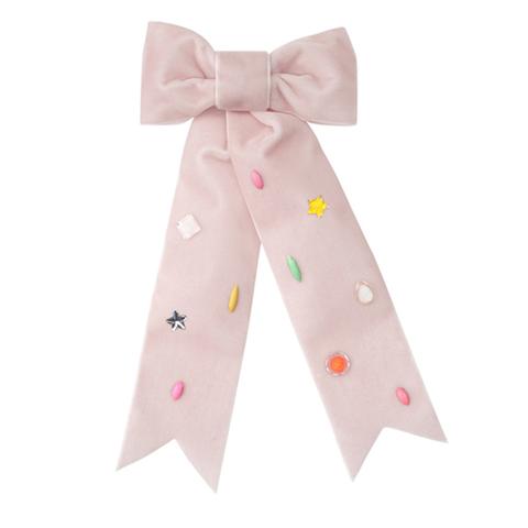 Заколка-пряжка для волос с бабочкой, розовая, большая