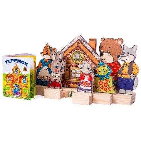 Кукольный театр Персонажи сказки Теремок, Краснокамская игрушка