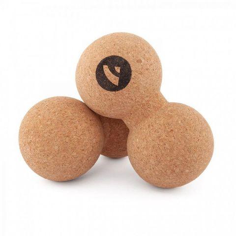Массажный шарик двойной Cork Peanut 16*8