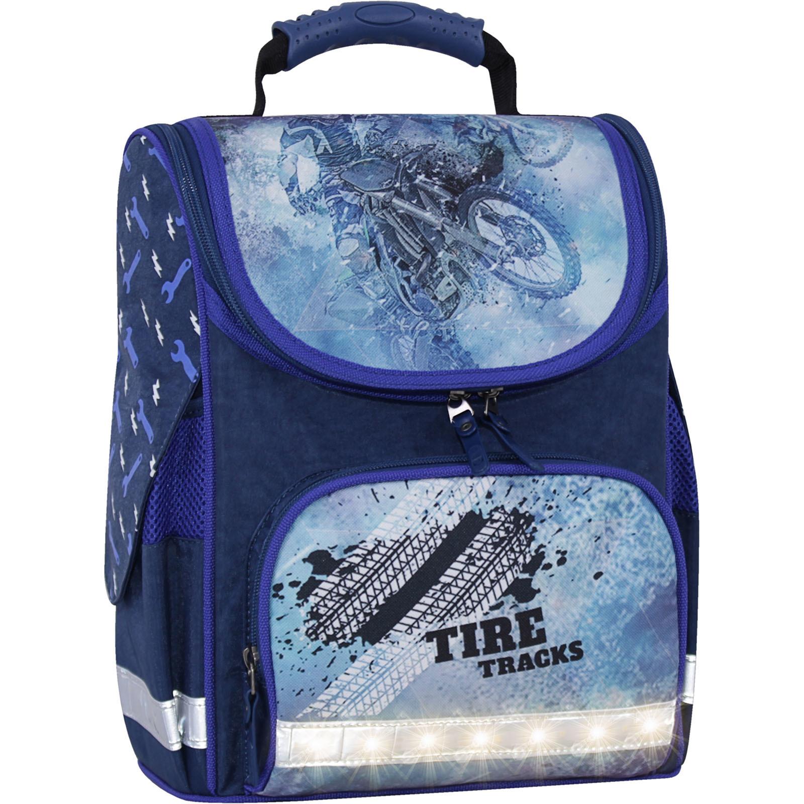Школьные рюкзаки Рюкзак школьный каркасный с фонариками Bagland Успех 12 л. синий 534 (00551703) IMG_3745свет.суб534-1600.jpg