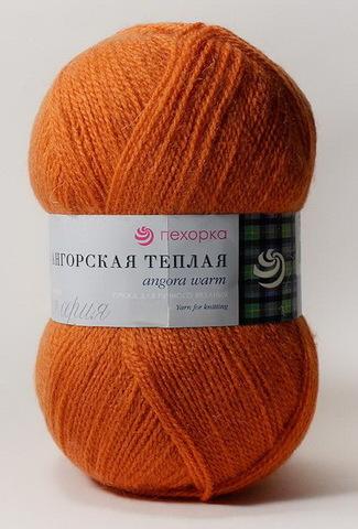 Ангорская теплая 189 Ярко-оранжевый (Пехорская пряжа, фото)
