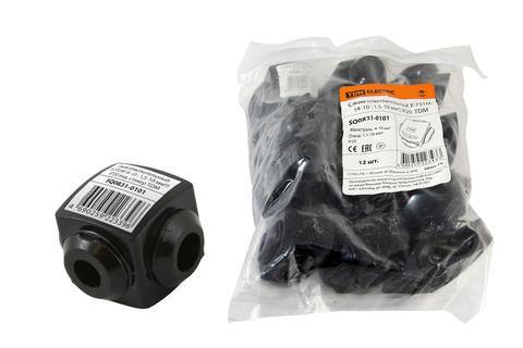 Сжим ответвительный У-731М (4-10 : 1,5-10 мм2) IP20 инд. стикер TDM