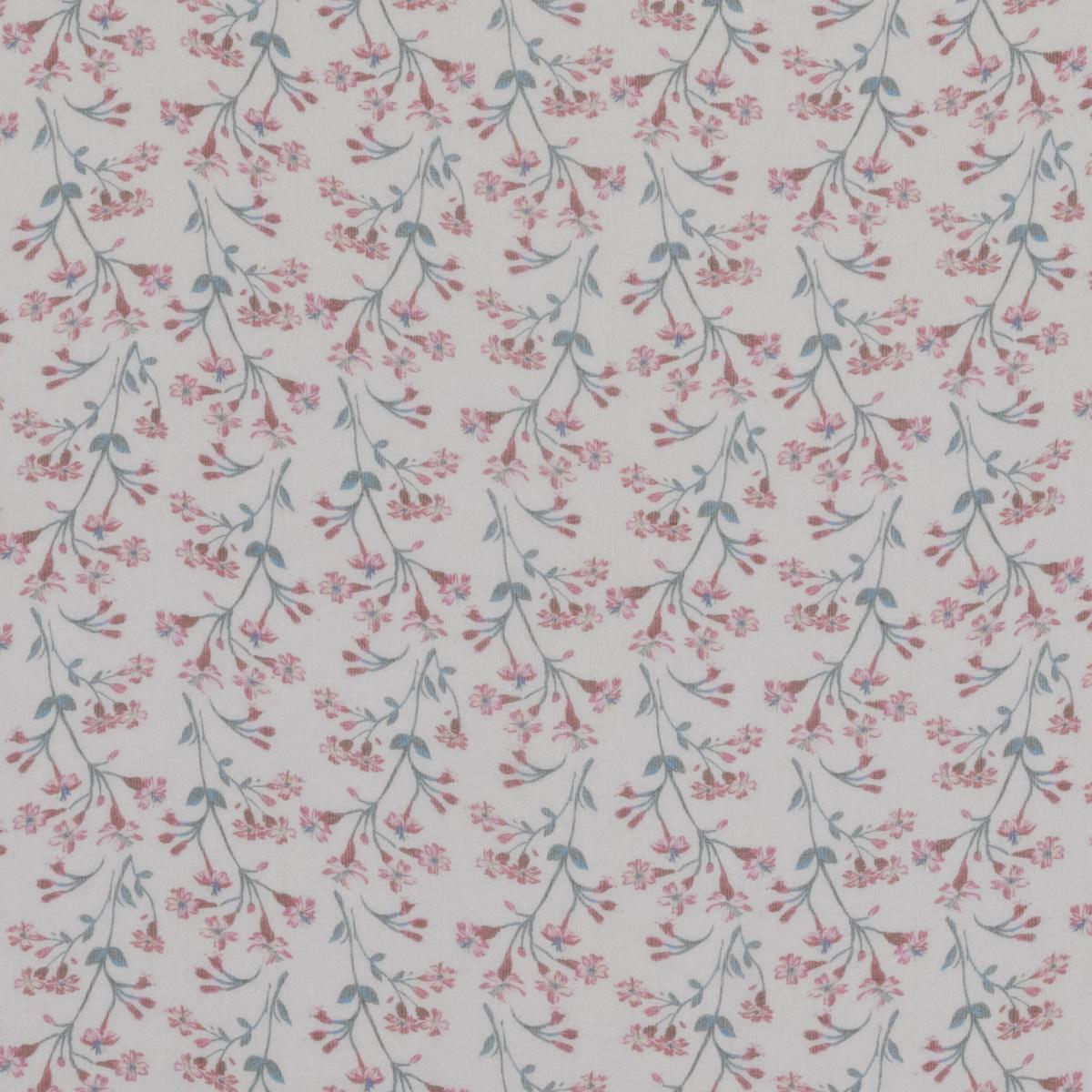 Полупрозрачный шёлковый шифон с нежно-розовыми цветами