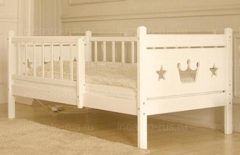 Подростковая кровать Софа Корона Premium , цвет белый, размер 160*80