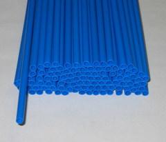 Трубочки полимерные для шаров, флагштоков и сахарной ваты Синие (100 шт), диаметр 5 мм, длина 370 мм