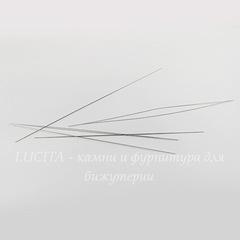 Игла для бисера с большим ушком, 125х0,5 мм, 5 штук