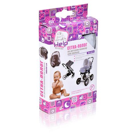 Сетка-полог 140x90 см на детскую коляску или люльку