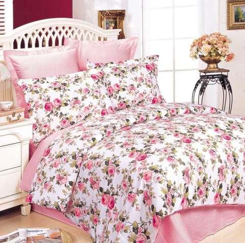 Сатиновое постельное бельё  1,5 спальное Сайлид  В-39