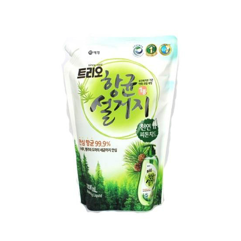 Aekyung Trio Phypocide Средство для мытья посуды Фитонциды 1.2 л в мягкой упаковке