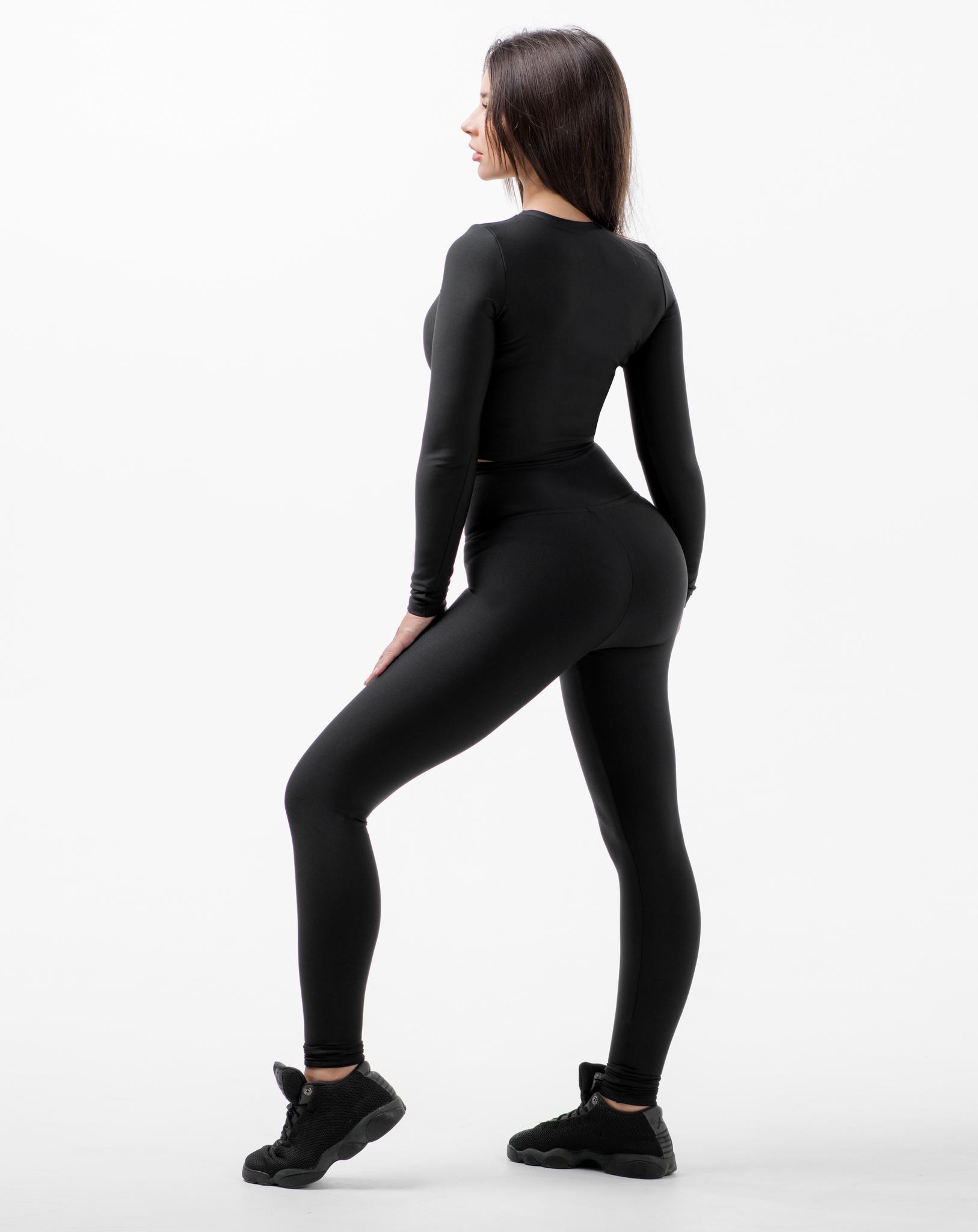 Женские лосины  высоким поясом Infinity high waist basic 115 black