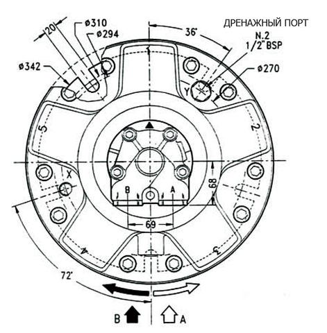 Гидромотор INM4-600
