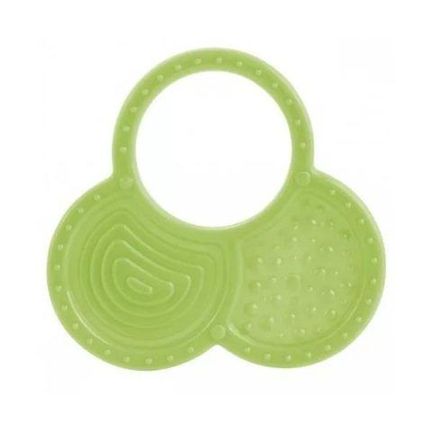 Прорезыватель мягкий, 0+, 3 вида (13/119) (зеленый, форма: орешки)