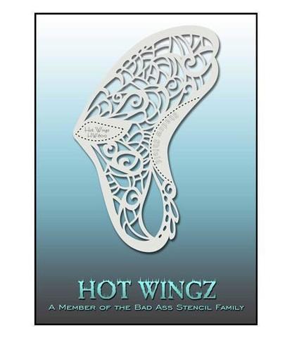 Трафарет Hot wings 8010