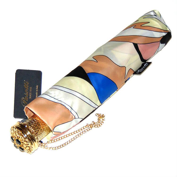 Зонт складной женский Pasotti 5G248-3 Oro Blu