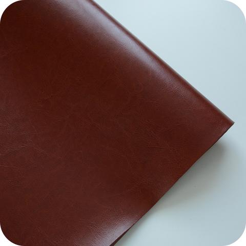 Кожзам переплетный глянцевый, коричневый