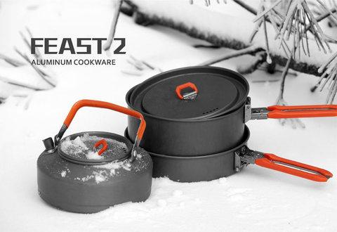 Картинка набор посуды Fire Maple Feast 2 алюминиевый  - 2