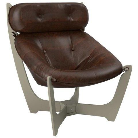 Кресло для отдыха Комфорт Модель 11 серый ясень/Antik Crocodile