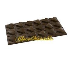 Форма поликарбонатная для шоколада - Плитка Сердечки