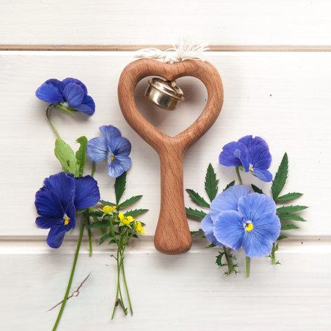Погремушка с бубенцом «Сердечко»