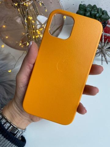 Чехол iPhone 12 Mini Leather Case with MagSafe /california poppy/