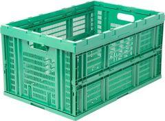 Большой складной ящик для хранения 54х35х28 см Зеленый