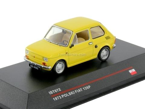 Polski Fiat 126P Maluch light yellow 1972 IST072 IST Models 1:43