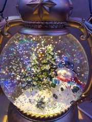 Фонарь декоративный Новогодний со снегом