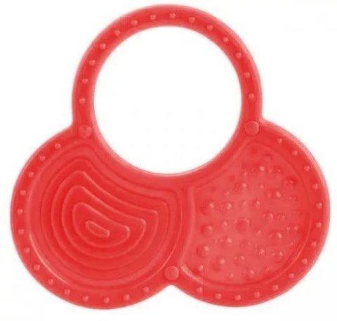 Прорезыватель мягкий, 0+, 3 вида (13/119) (красный, форма: орешки)