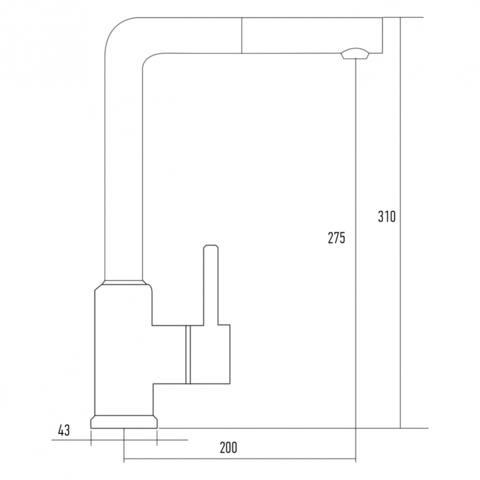 Смеситель для мойки Kuppersberg GEO KG2385CR GREY METAL.