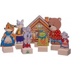 Деревянный кукольный театр Теремок, Краснокамская игрушка