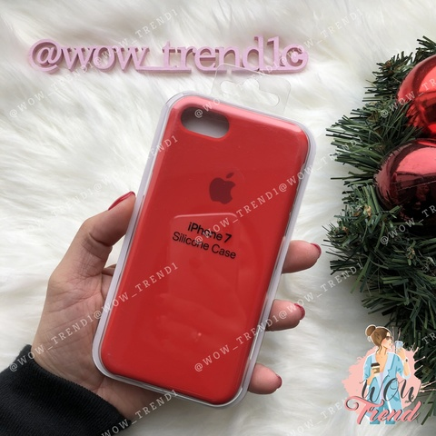 Чехол iPhone 7/8 Silicone Case /red/ красный original quality