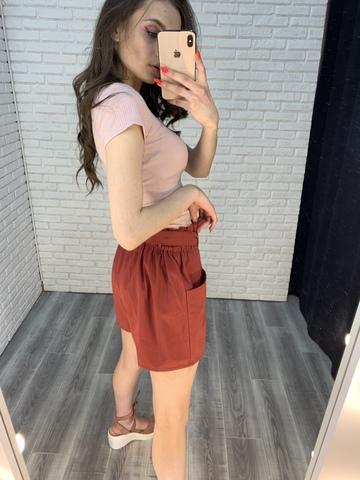 шорты с ремнем женские оптом