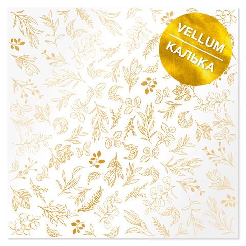 Лист кальки (веллум) с фольгированием Golden Branches