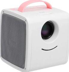 Детский проектор кубик Q2 Kids Story розовый