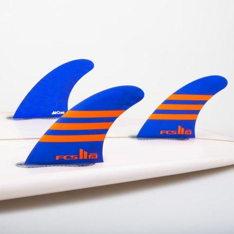 FCS II JW PC Tri Retail Fins Blue/Orange Medium
