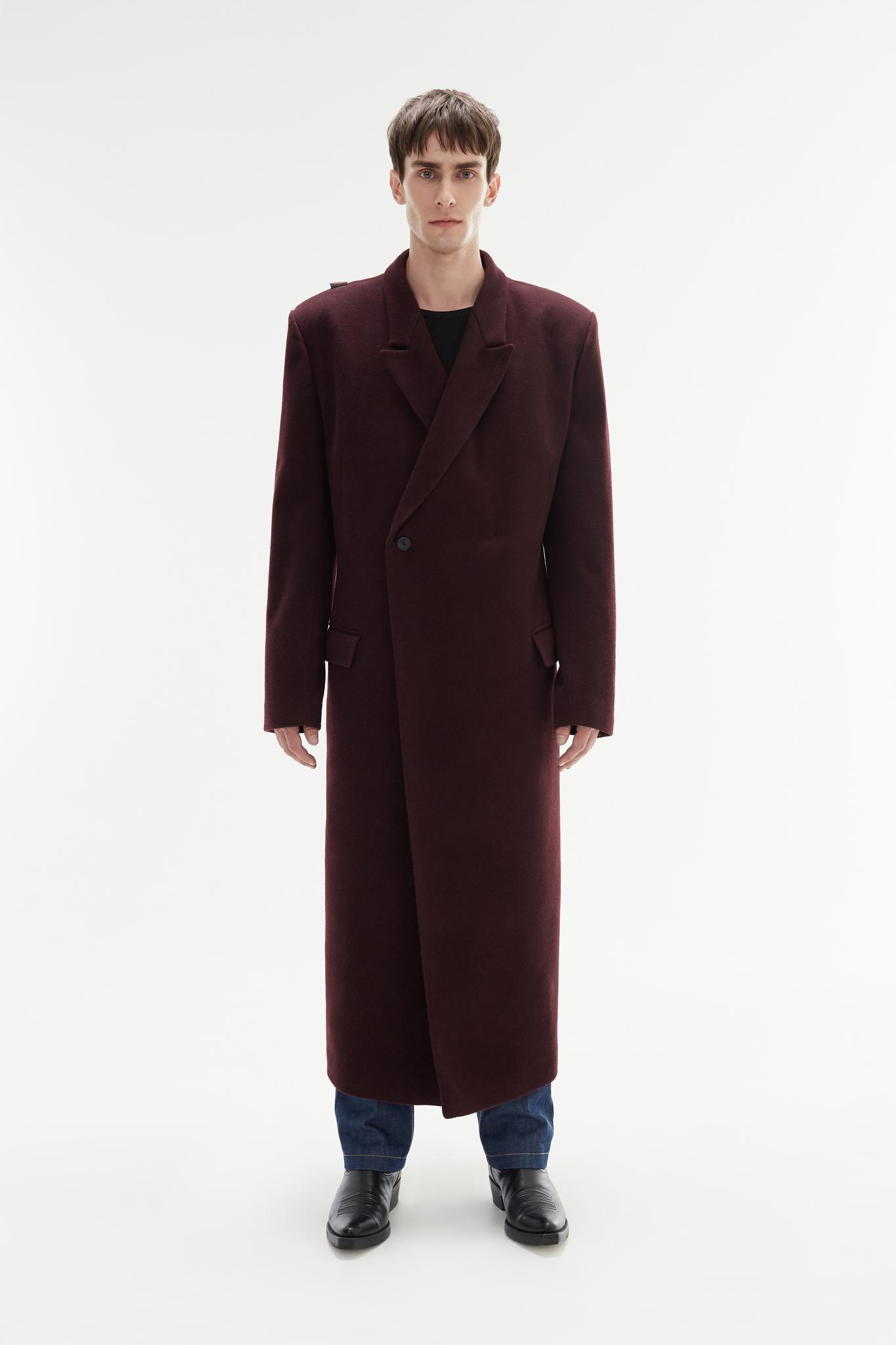 Пальто с запахом/wine