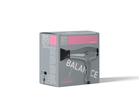 Фен Dewal Beauty Balance, 2200 Вт, 1 насадка, серый
