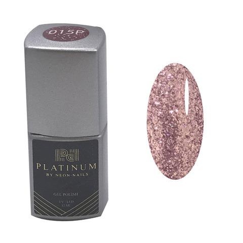 PLATINUM, гель-лак Roxstar#9  № 015P , ( 12 ml)  жидкая фольга розовое золото