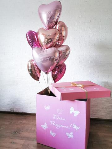 Воздушные шары в коробке Москва