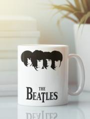 Кружка с изображением Битлз (The Beatles) белая 0011