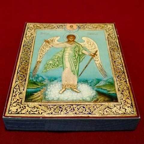 Икона святой Ангел Хранитель на дереве на левкасе мастерская Иконный Дом