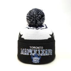 Вязаная шапка хоккей НХЛ Торонто Мэйпл Лифс (Hockey NHL Toronto Maple Leafs) с помпоном
