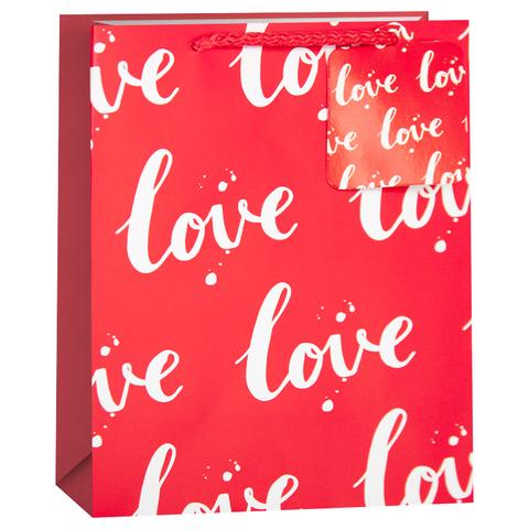 Пакет подарочный, Любовь, Красный, 42*32*12 см