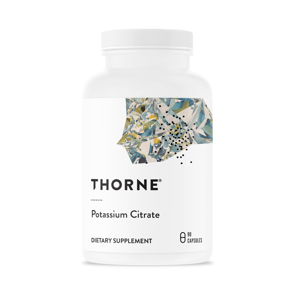 Цитрат калия, Potassium Citrate, Thorne Research, (90 капсул)