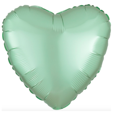 Шар сердце Оливковый, 45 см