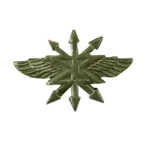 Эмблема петличная Войска связи, металл. защитный