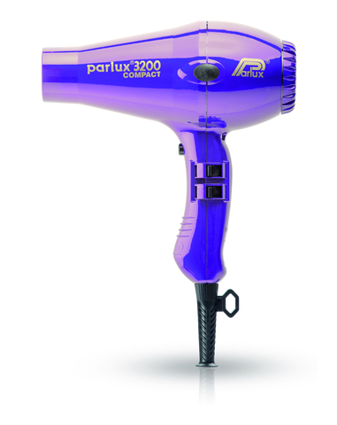 Фен Parlux 3200 Compact, 1900 Вт, 2 насадки, фиолетовый